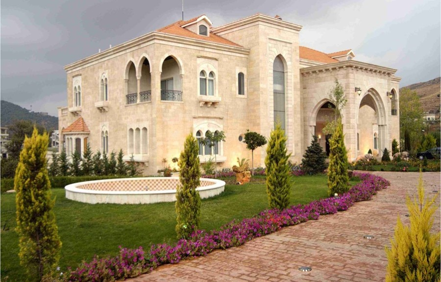 Lebanese palace external view jean claude malhame for Lebanese home designs